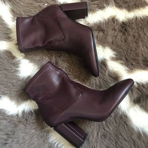 Franco Sarto Leather Sock Booties